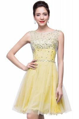 Sleeveless Open-Back Short Crystal Homecoming Dresses_4