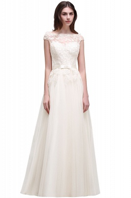 AUBREE | A-line Floor-Length Tulle Prom Dress With Lace Appliques_1