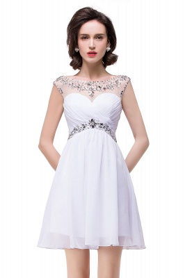 AITANA | A-line Jewel Chiffon Party Dress With  Crystal_6