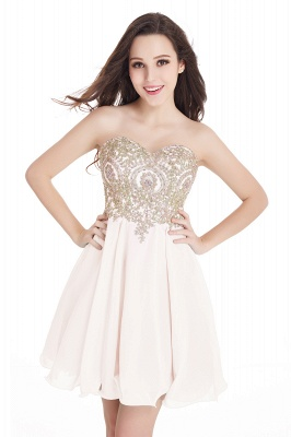 Appliques Short SweetheartMini Cheap Homecoming Dresses_4