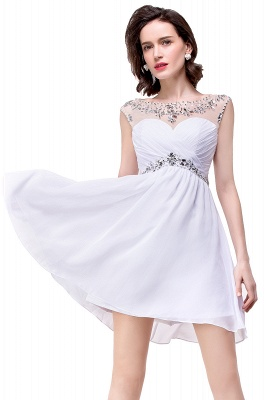 AITANA | A-line Jewel Chiffon Party Dress With  Crystal_10