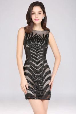 AMALIA   Sheath Short Black Sexy Cocktail Dresses_7