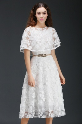 ANDREA | A-line Short Lace Homecoming Dress With Crystal_7