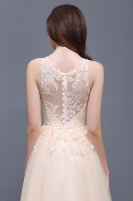 ATHENA | A-line Floor-Length Tulle Prom Dress With Lace_11