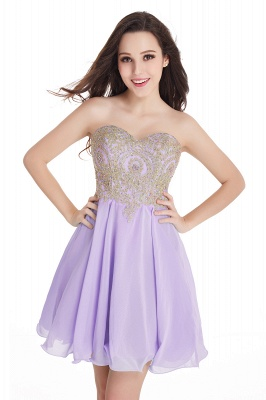 Appliques Short SweetheartMini Cheap Homecoming Dresses_6