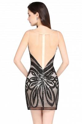 AMALIA   Sheath Short Black Sexy Cocktail Dresses_3