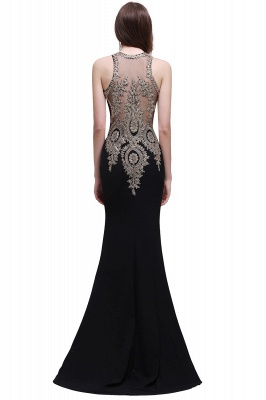 BROOKLYNN | Mermaid Black Prom Dresses with Lace Appliques_6