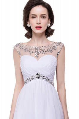 AITANA | A-line Jewel Chiffon Party Dress With  Crystal_1