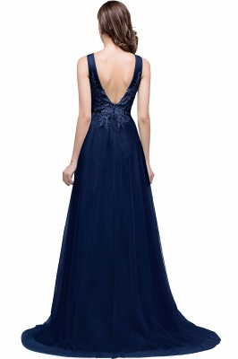 ABRIL | A-line Court Train Tulle Evening Dress with Appliques_5