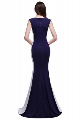 BLAKE | Sheath Scoop Floor-Length Dark Navy Evening Dresses_3