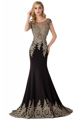 ABIGAIL | Mermaid Court Train Chiffon Evening Dress with Appliques_7