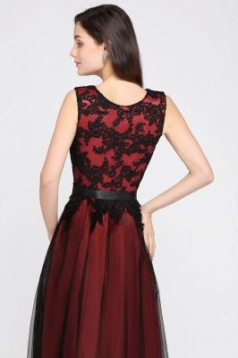 ARABELLA | A-line Scoop Floor Length Lace Cheap Evening Dresses_8