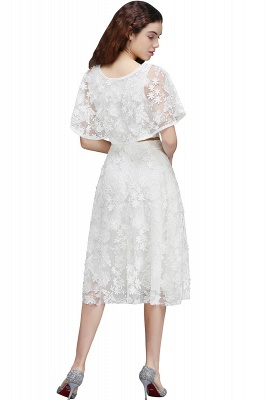ANDREA | A-line Short Lace Homecoming Dress With Crystal_3