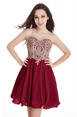 Appliques Short SweetheartMini Cheap Homecoming Dresses_3