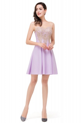 ESTHER | A-line Sleeveless Chiffon Short Prom Dresses with Appliques_9