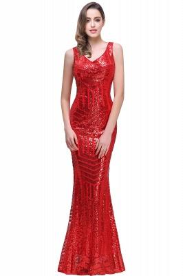 Newest Long Sequin Jewel Mermaid Sleeveless Prom Dress_1