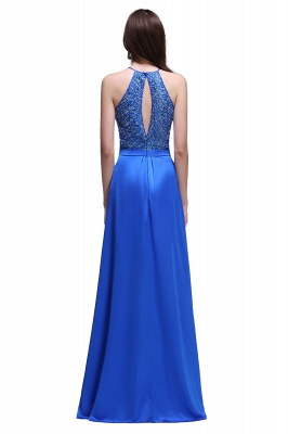 CALLIE   A-line Halter Neck Chiffon Royal Blue Prom Dresses with Sequins_3