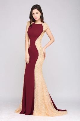 ANYA | Mermaid Scoop Burgundy Pretty Evening Dresses_7