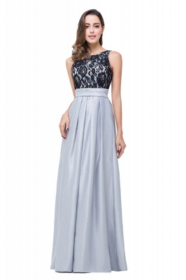ELLIE | A-line Floor-length Crew Chiffon Lace Bridesmaid Dresses_5
