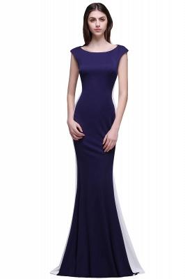 BLAKE | Sheath Scoop Floor-Length Dark Navy Evening Dresses_1