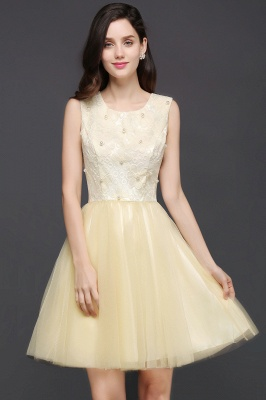 CLARA | Princess Scoop neck Knee-length Tulle Prom Dress_1