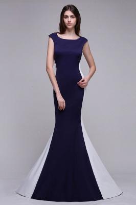 BLAKE | Sheath Scoop Floor-Length Dark Navy Evening Dresses_5