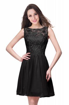 ELIANA | A-line Short Sleeveless Bateau Chiffon Ruffles Lace Top Prom Dresses_7