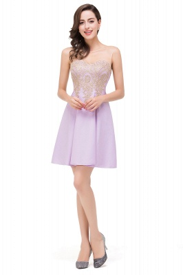 ESTHER | A-line Sleeveless Chiffon Short Prom Dresses with Appliques
