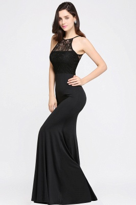 CHERISH | Mermaid Halter Floor-length Chiffon Black Prom Dress_6
