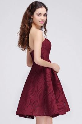 BRENNA | A-Line Strapless Burgundy Homecoming Dresses_6