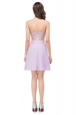 ESTHER | A-line Sleeveless Chiffon Short Prom Dresses with Appliques_7