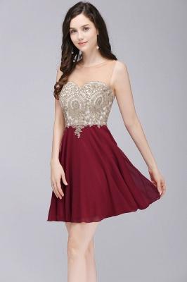 ALIANNA | Sheath Jewel Chiffon Short Homecoming Party Dresses With Applique_7