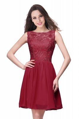 ELIANA | A-line Short Sleeveless Bateau Chiffon Ruffles Lace Top Prom Dresses_2