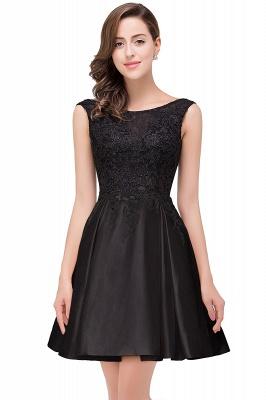 EVA | A-line Sleeveless Lace Appliques Short Prom Dresses_5