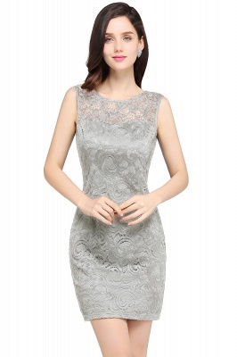 ARYA   Sheath Scoop Black Lace Cheap Homecoming Dresses_7