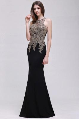 BROOKLYNN   Mermaid Black Prom Dresses with Lace Appliques_8