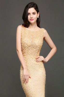 ALLIE | Mermaid Scoop Sweep Train Champagne Evening Dresses with Beadings_4