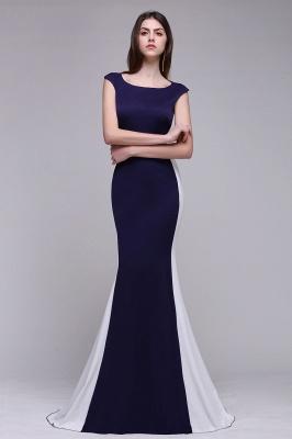 BLAKE | Sheath Scoop Floor-Length Dark Navy Evening Dresses_4