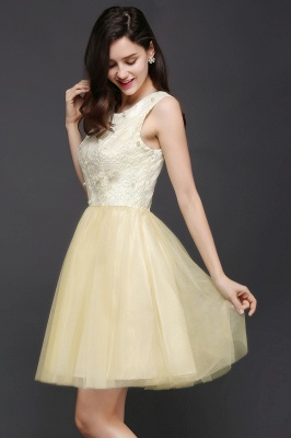CLARA | Princess Scoop neck Knee-length Tulle Prom Dress_6