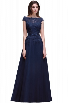 AUBREE | A-line Floor-Length Tulle Prom Dress With Lace Appliques_6