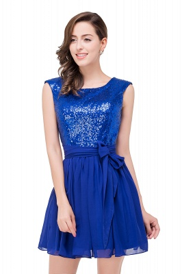 EMERSYN | A-Line Sleeveless Sequins Chiffon Short Prom Dresses_5