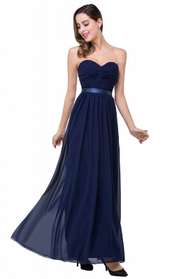 ADELINA | A-line Strapless Chiffon Bridesmaid Dress with Draped_11