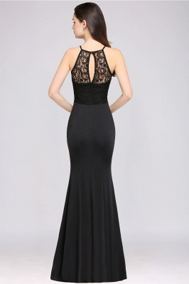 CHERISH | Mermaid Halter Floor-length Chiffon Black Prom Dress_3