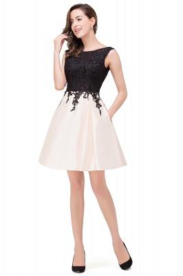 EVA | A-line Sleeveless Lace Appliques Short Prom Dresses_9