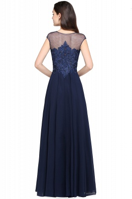 AVALYN   A-line Scoop Navy Chiffon Prom Dress With Appliques_3