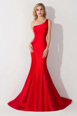 AILEEN   Mermaid One Shoulder Satin Evening Dress_6