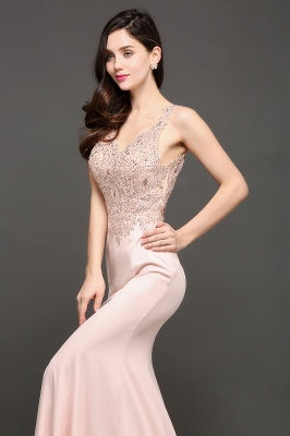 ALLYSON   Mermaid V-Neck Pearl Pink Prom Dresses with Beads_6