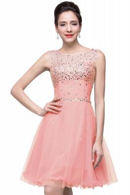 Sleeveless Open-Back Short Crystal Homecoming Dresses_1