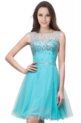 Sleeveless Open-Back Short Crystal Homecoming Dresses_9