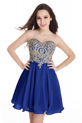 Appliques Short SweetheartMini Cheap Homecoming Dresses_7